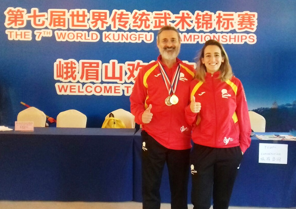 Alba y Eloy Cto mundial wushu 2017 chandal
